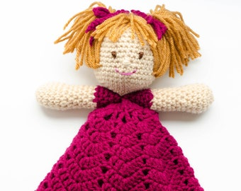 Emily a Princess Lovey- CROCHET PATTERN instant download - blankie, blankey, security blanket