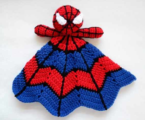 Super Hero Spider Lovey Crochet Pattern Instant Download Etsy