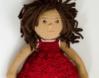Doll, Crochet Doll Pattern, Amigurumi  Pattern PDF - instant download -  Gracie Doll