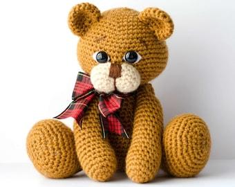 Crochet Amigurumi Teddy Bear Pattern PDF-Moxie Bear-Classical Teddy Bear-crochet PDF Tutorial-instant download