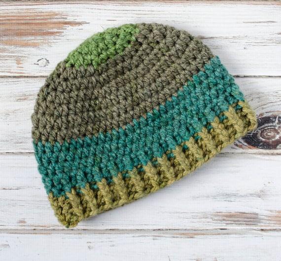 Mens Beanie Pattern Brawny Beanie Crochet Hat Pattern Etsy