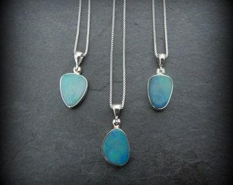 c9904c9ce Opal Necklace, Opal Pendant, Genuine Australian Opal Pendant, Unique Opal,  October Birthstone, Iridescent Opal Pendant, Gemstone Appeal, GSA
