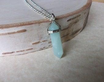 Amazonite Necklace, Amazonite Point Pendant, Gemstone Point, Healing Crystal Necklace, Layering Necklace, Gemstone Appeal, GSA