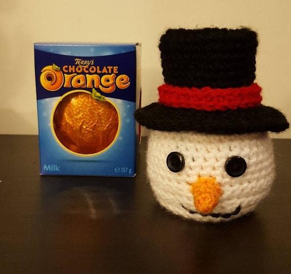 Chocolate Orange Snowman Crochet Pattern Top Hat Version  71989ab23ed