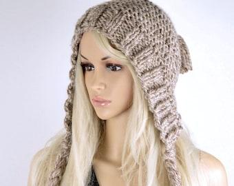 Hat, Knit hat, Chullo, Ear Flap Hat, Winter Hat, Tassel HatHandmade Hat, Chullo Hat,  Earflap, Wool Hat, PomPom Barley Earflap, Fashion Hat