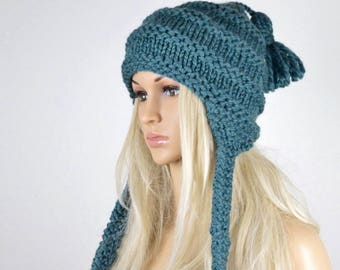 4457ec93cd4 Knit earflap hat