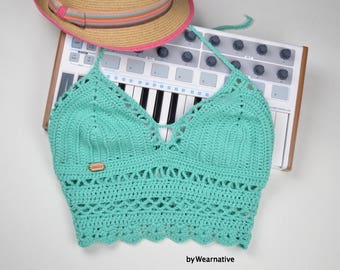 Crochet Crop Top Etsy