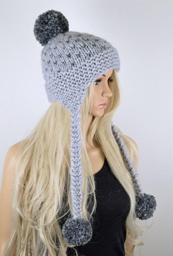 Sombrero sombrero Chullo sombrero de la aleta del oído Pom | Etsy