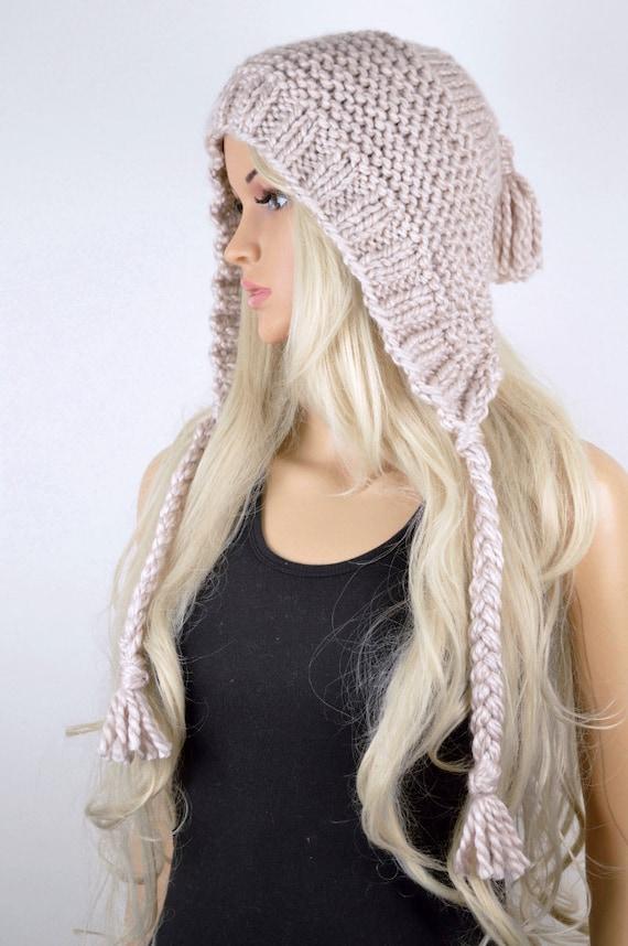a5b31bc3abd Hat Knit hat Chullo Ear Flap Hat Tassel Hat Winter Hat