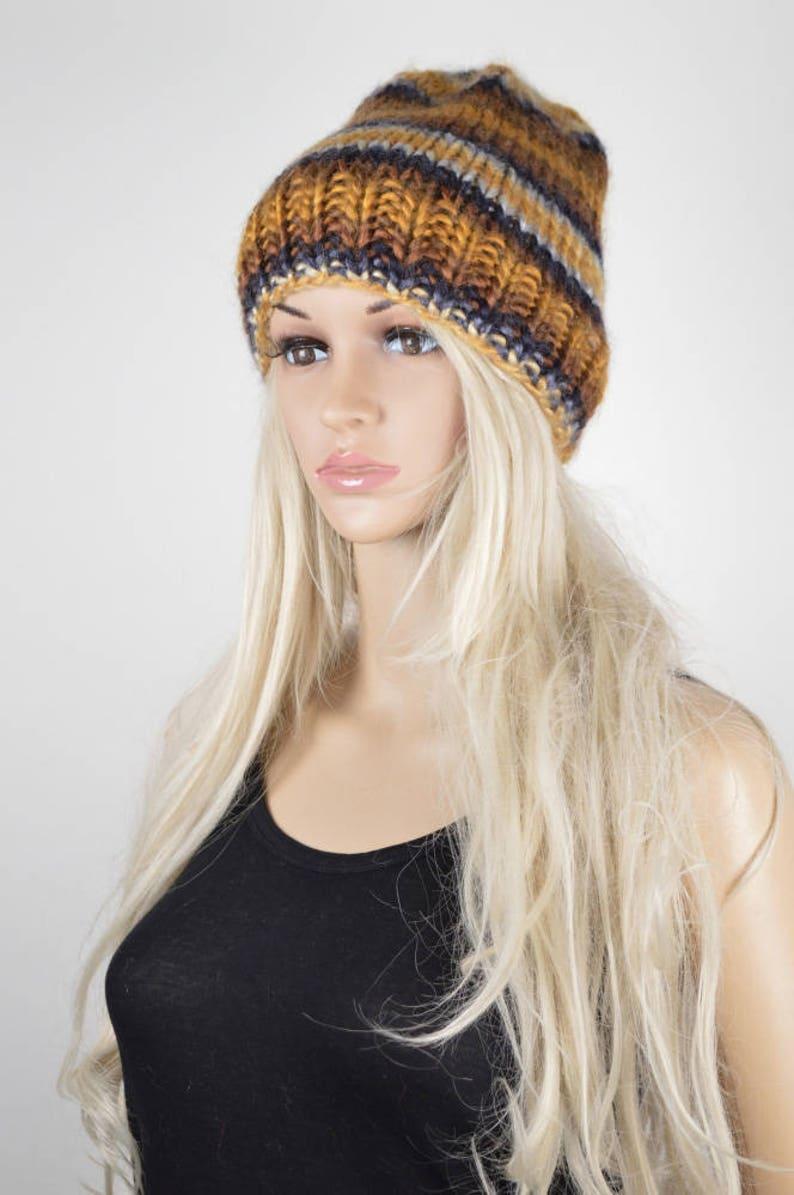 6d829589212 Knit Hat Slouchy Hat Winter Hat Beanie Hat Colorful Hat