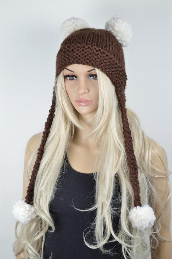 Invierno sombrero Chullo sombrero de la aleta del oído Knit | Etsy