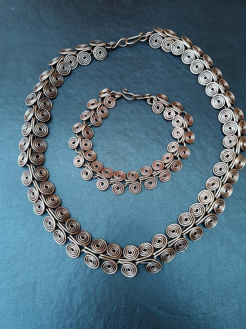 Solid Copper Egyptian Coil Jewellery Set: Choker/Collar  image 0