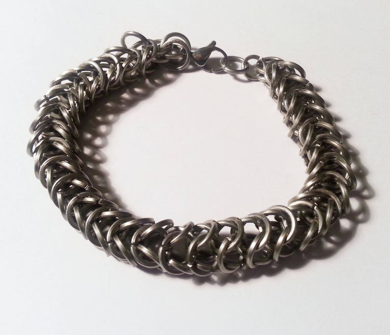 Stainless Steel Box Weave Chainmail Bracelet  Square image 0