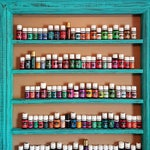 Oil shelf, Nail polish shelf, Essential oil storage, wood frame shelf, farmhouse decor, oil display, hanging shelf, nail polish rack