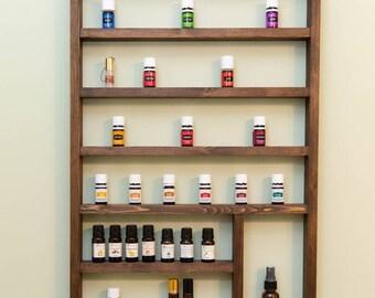 Essential oil shelf, essential oil display, oil storage, oil rack, wood shelf, hanging shelf, nail polish shelf, nail polish holder