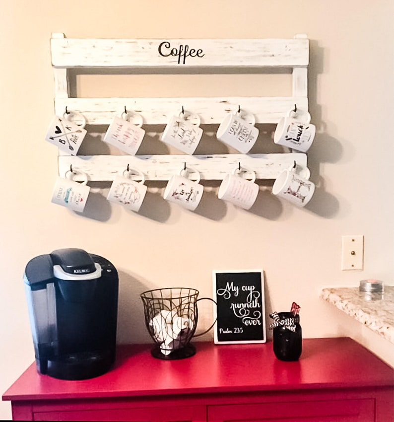 Kitchen Decor Coffee Cup Rack Tea Cup Display Coffee Cup Etsy