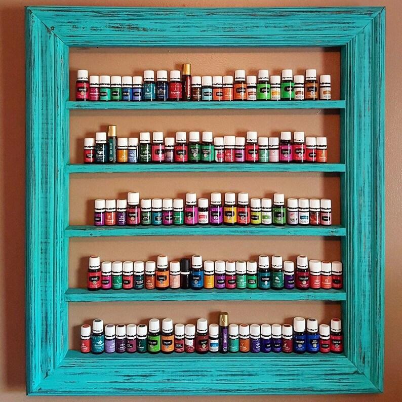 Turquoise home decor Oil shelf Nail polish shelf CBD oil image 0