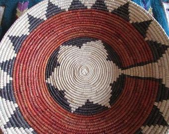 """Navajo Native Inspired Wedding Design Southwest Basket- Hand Made 14"""""""
