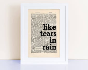 Blade Runner Quote Etsy