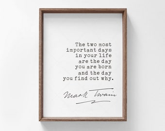 Mark Twain Quote, book lovers gifts, digital download print poster printable