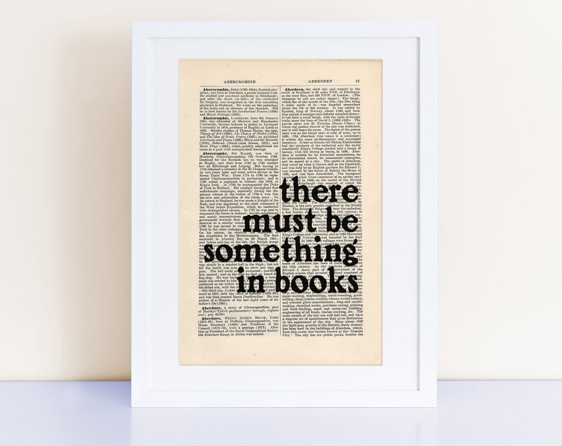 there must be something in books Ray Bradbury Quote Print image 0