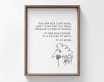 Kurt Vonnegut Quote, book lovers gifts, digital download printable poster, Slaughterhouse-Five