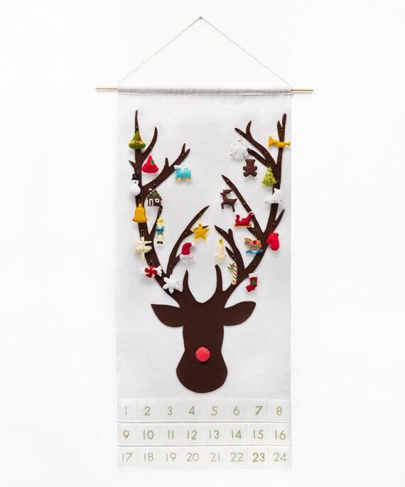 Christmas Advent Calendar Sewing Pattern Diy Felt Countdown Etsy