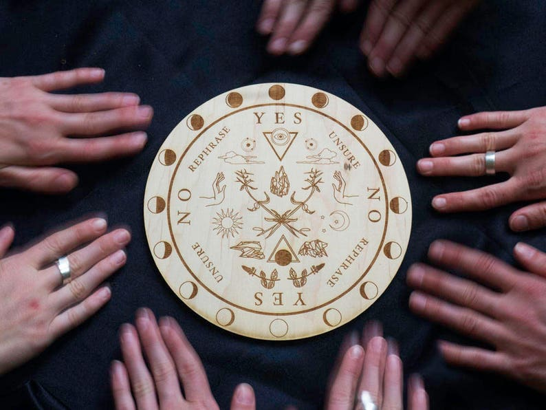Pendulum Board Moon Phases Wooden Board Divination Witch Scrying Spirit  Dowsing Seance Occult Pagan