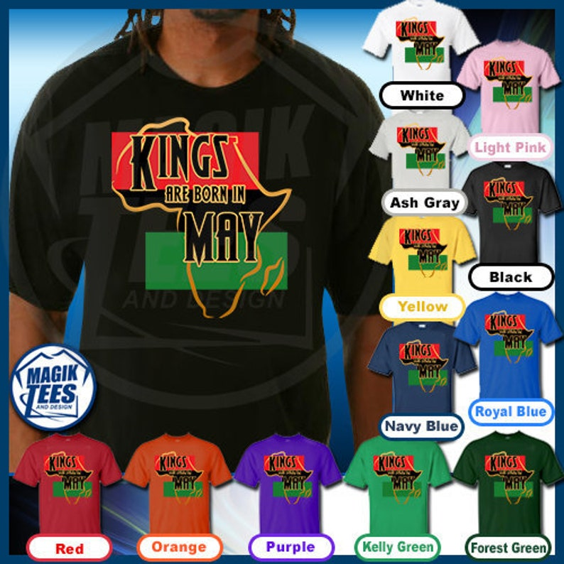 6a870035a Kings Are Born In May African American Black Men Birthday   Etsy