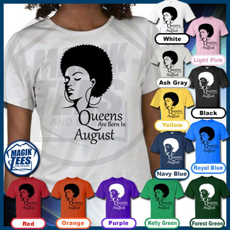 73e650f34 Black Women Queens Are Born In August African American Woman | Etsy