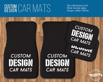 Personalised Car Mats BEST DADDY Christmas gift DAD Fathers *OR YOUR OWN TEXT*