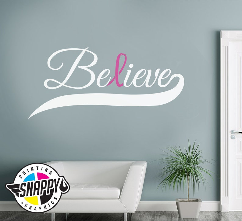 Amazon Com Katazoom Breast Cancer Awareness Wall Decal Pink Ribbon Removable Vinyl Wall Decal 22 X 43 Pink Home Kitchen