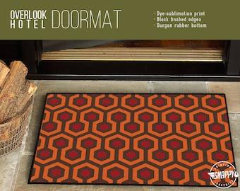 """Overlook Hotel Carpet Pattern - Welcome Mat/Doormat/Rug - 24"""" x 36"""" - High Quality Dye-Sub Print, Weatherproof - Indoor/Outdoor"""