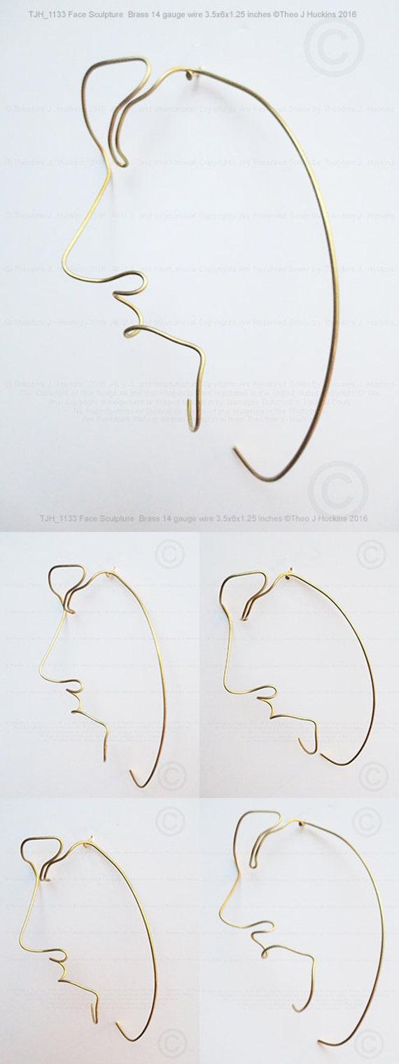 Wire Sculpture Erotic Art Female Face Metal Wall Etsy 14 Gauge Wiring Diagram Image 0
