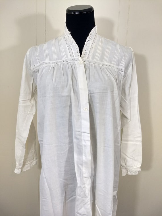 30s 40s Nightgown, Vintage Antique Chemise with Ey