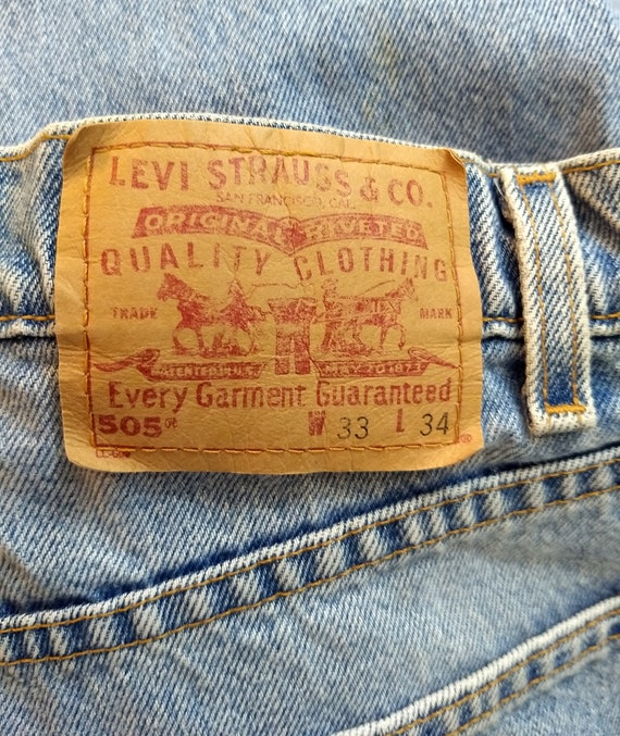 W33 Denim Size Straight Wash 505 Blue Levi's Vintage Light Jeans L34 zFwqZPnx7