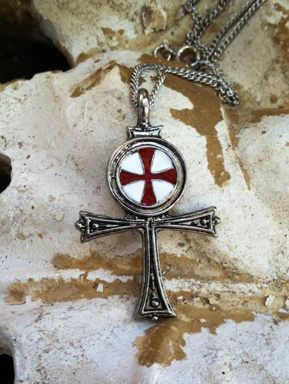 Talisman Knights Templar Ritual Jewelry Occult Heraldic Seal Ankh Maltese  Cross Egyptian Pendant Amulet Shield Metaphysical Magick Masonic