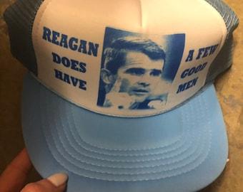 Vintage 1980 s Ronald Reagan Trucker Hat eed659268321