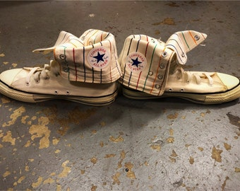 e75165fc09a0 Amazing Vintage Striped Converse All Star HighTops