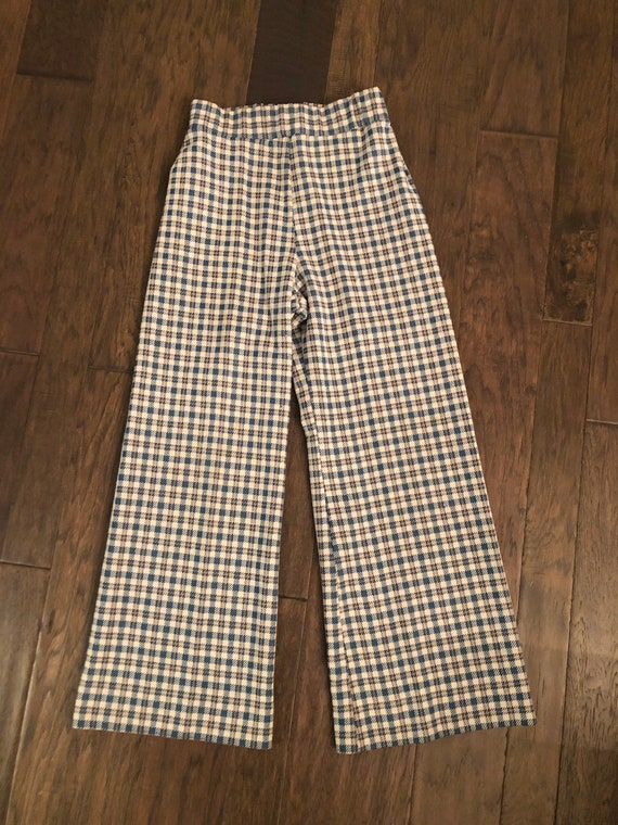 Vintage 1970's Checkered Bellbottom Pants