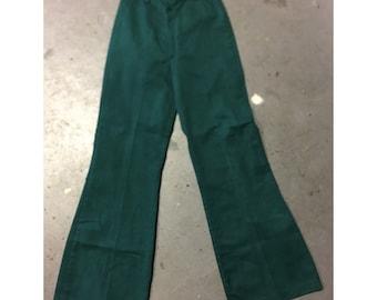 Vintage 70's Hunter Green Bellbottoms