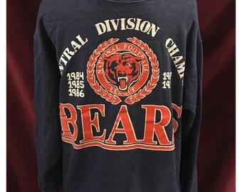 Vintage Super Soft 80's Chicago Bears NFL Champions Sweatshirt