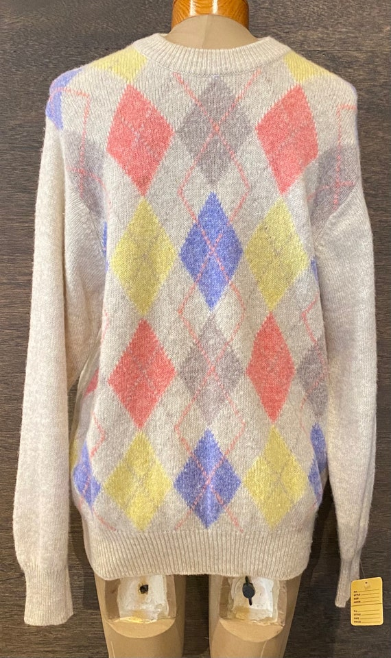 Vintage Benetton Argyle Sweater