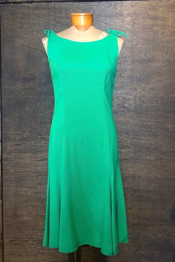 Vintage 1960's Emerald Green Cocktail Dress