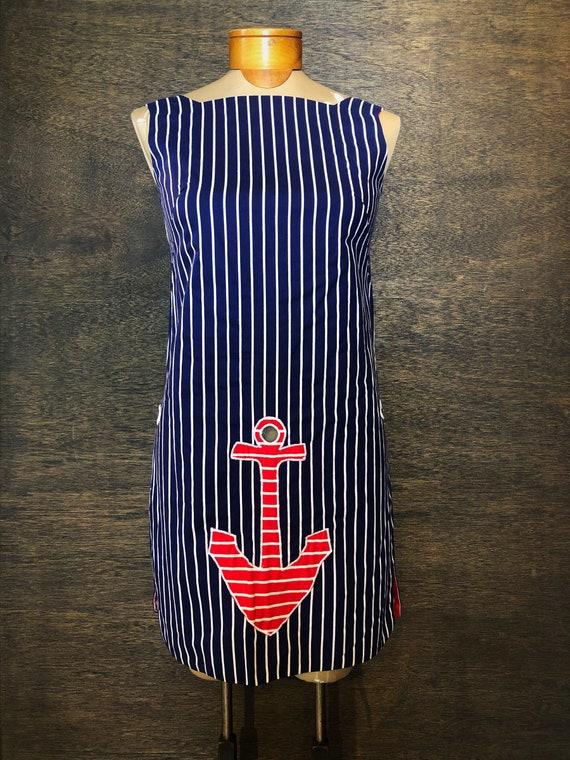 Vintage 1960's Reversible Sailor Dress