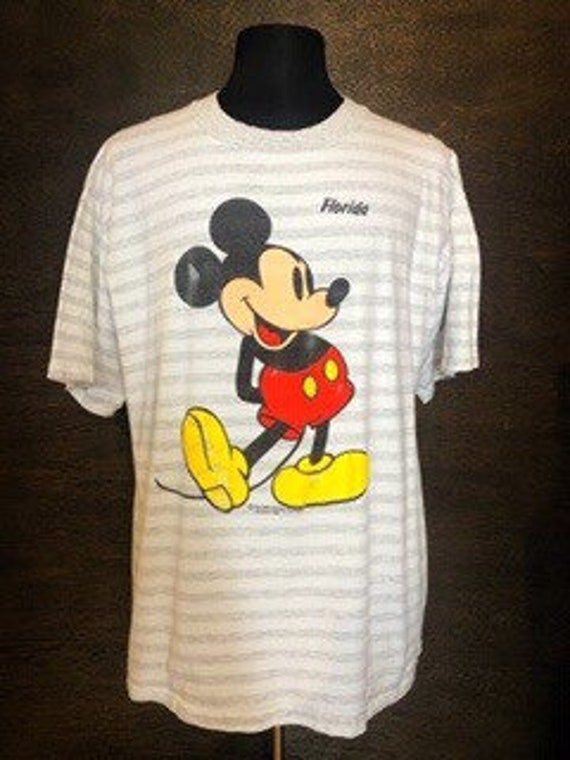 Vintage Striped Mickey Mouse Tshirt