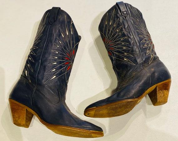 Amazing Women's Vintage Dingo Cowboy Boots With Su