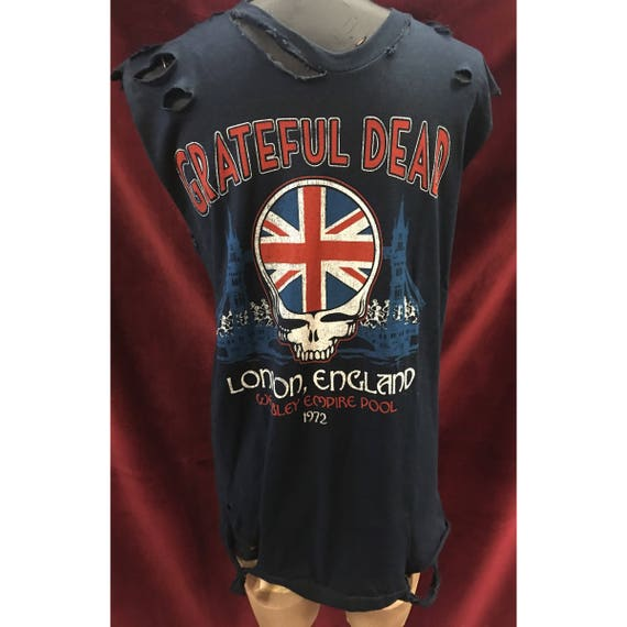 Custom Distressed Grateful Dead Ringer  Tshirt