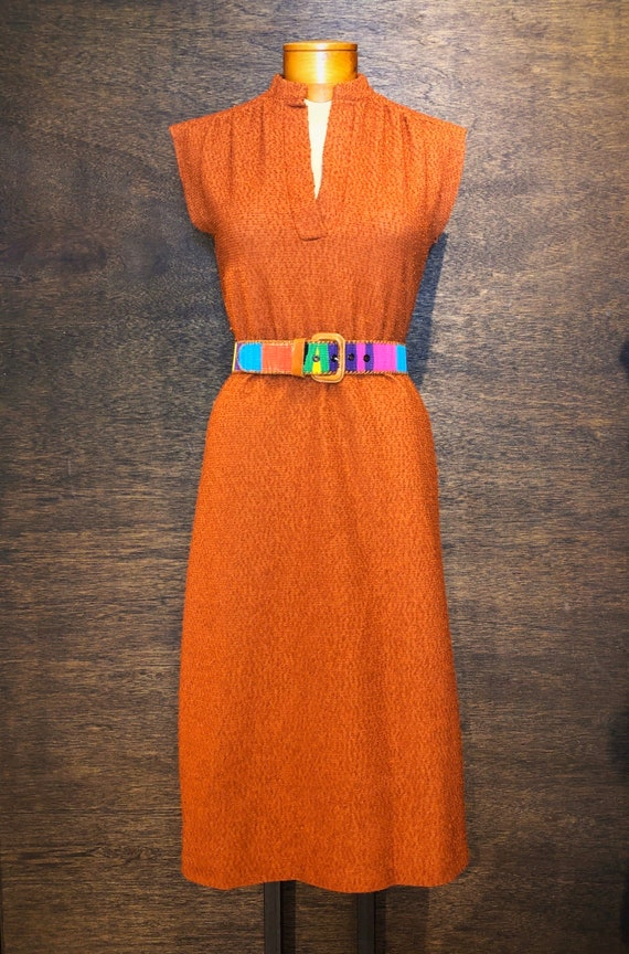 Darling Vintage 1970's Terrycloth Dress