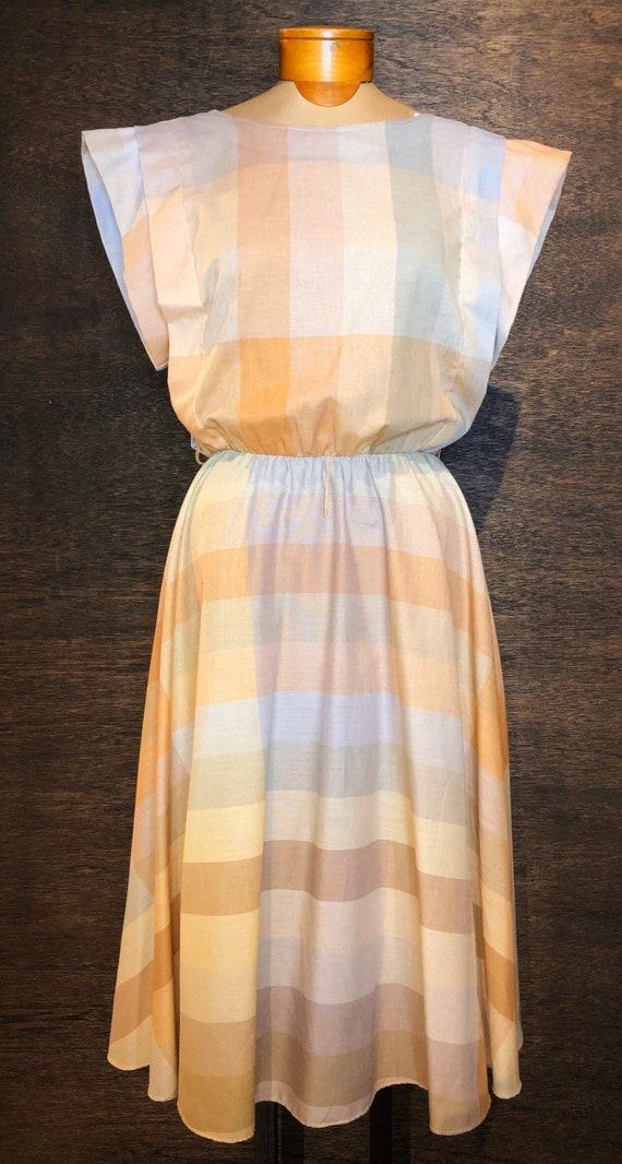 Vintage 1960's Union Made Pastel Dress